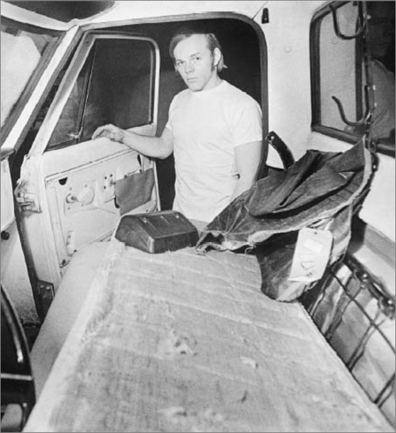Gary Zieger and his truck