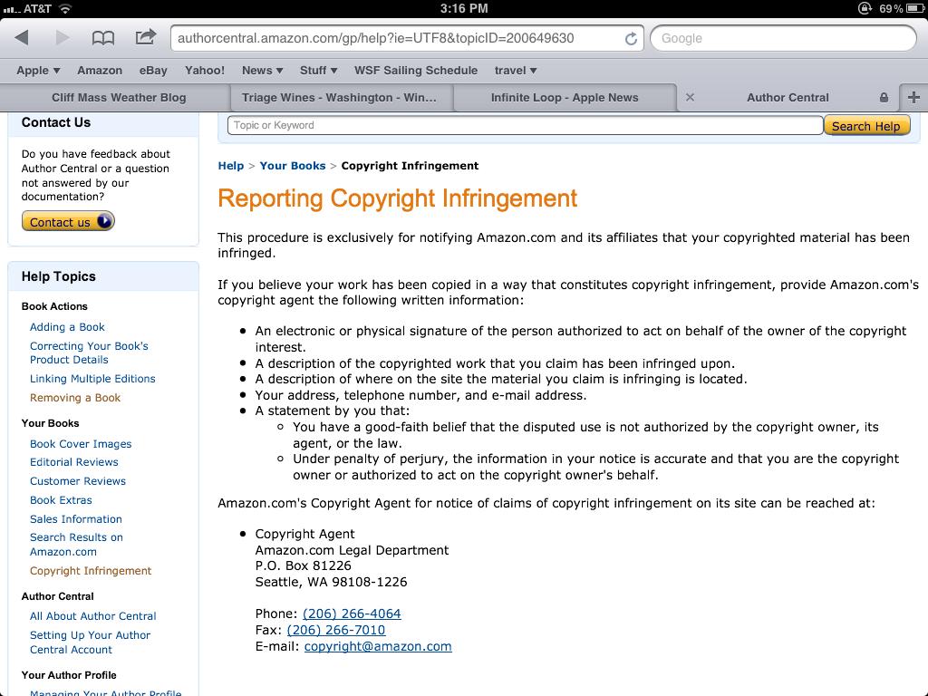 Amazon Copyright Violations