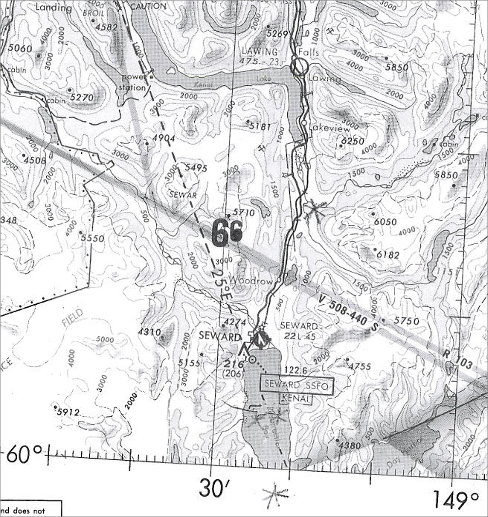 Seward: south to Seward Bay