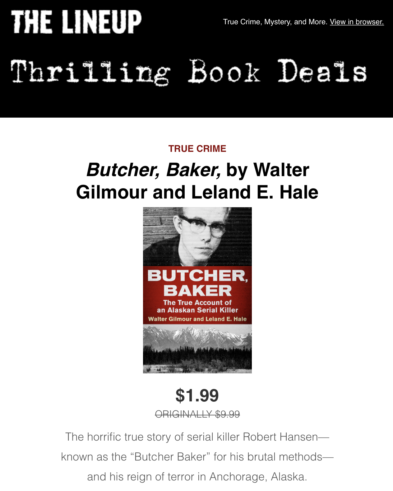 The Lineup : Butcher, Baker One Day Sale
